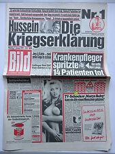 Periódico imagen, el lunes 7.1.1991, hussein-la declaración de guerra, Tina Ruhland
