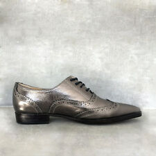 Handmade Genuine Leather Oxford Flat Shoes Derby Lace Up Women