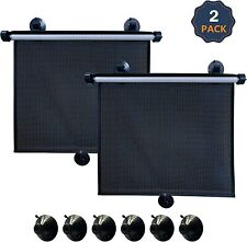 EcoNour Car Roller Sunshade (Pack of 2)   Retractable Side Window.