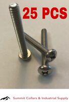 "Pan Head Phillips Machine Screws Stainless Steel  #1/4-20 x 2"" Qty-25"