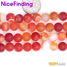 """8mm Natural Round Frost Matte Agate Onyx Loose Stone Beads For Jewelry Making15"""""""