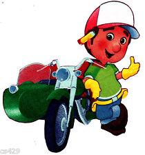 "5"" DISNEY HANDY MANNY MOTORCYCLE TOOLS PENCIL  FABRIC APPLIQUE IRON ON"