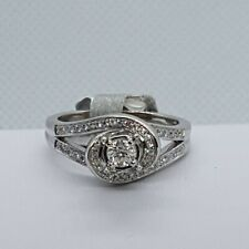 Elegant 14K White Gold Round Brilliant Diamond Engagement/ Right Hand Ring