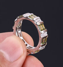NEW STYLE TOPAZ .925 SOLID STERLING SILVER RING SIZE 8 #21644