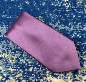 Donald J. Trump Signature Solid Purple Satin Handmade Silk Necktie