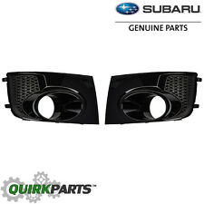 OEM 2011-2012 Subaru Impreza WRX STi Right & Left Fog Light Bezel Set 32J NEW