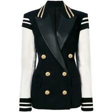 Womens OL Double Breasted Short Suit Blazer Over Coat Jacket Casual Outwear Chic