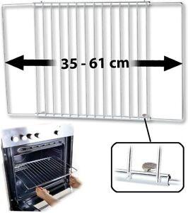 Backofengitter Universal-Backofenrost ausziehbar von 35 - 61 cm 32cm T Backblech