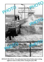 OLD 8x6 PHOTO HENLEY BEACH JETTY STORM SOUTH AUSTRALIA 1981 ADELAIDE