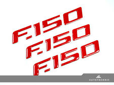 RED CARBON FIBER FENDER TAILGATE EMBLEM FILLER DECAL - 09-14 FORD F150 FX XLT