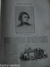 Alfred Lord Tennyson Early Life Victorian Rare Antique 1891 Article