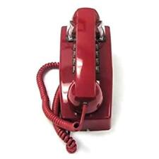 Cortelco 2554-Md-Rd 255447-Vba-20Md Corded Push Button Retro Wall Phone Red New