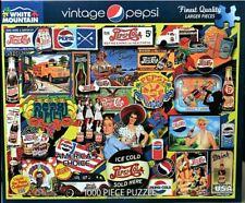 WHITE MOUNTAIN Lois Sutton Vintage Pepsi Collage 1000 Pc Jigsaw Puzzle