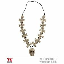 Skulls & Cross Bones Necklace Halloween Horror Fancy Dress Costume Accessory