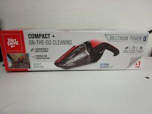 Dirt Devil Handheld Cleaner Quick Flip 8 Volt Lithium Cordless Red Hand Vacuum