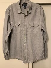 American Rag ** As IS  Gray Mens Size XL Button Down Long-Sleeve Shirt