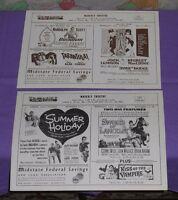 original WAVERLY THEATRE handbill program x2 Tarantula Kiss of the Vampire