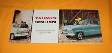 FORD TAUNUS 12m 15m 1958 PROSPEKT BROCHURE prospetto catalog depliant Prospecto