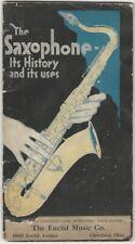 1921 Buescher True-Tone Saxophone History & Musical Instrument Catalog