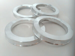 4 Aluminium hub centric rings vehicle side 67.1mm to rims side 78.1mm