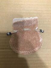 Istanbul Grand Bazaar Turkey Evil Eye Beaded Beige Drawstring Jewelry Pouch Bag