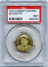 1910-12 Sweet Caporal Pins P2  ED CICOTTE (BLACK SOX)  RED SOX  PSA  7  NM