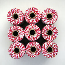 BAKERS TWINE - RED and WHITE - ONE 100m roll 12ply - Christmas gift wrapping