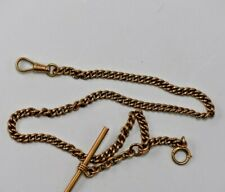 Vintage 10 Karat Solid Yellow Gold Link style Pocket Watch Chain