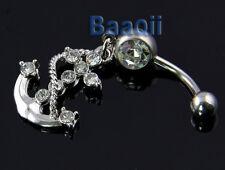 Piercing Ombligo Vientre Botón Anillo Barbell del anillo de Marinero Ancla  BC
