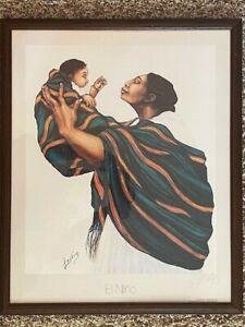 "Professionally Framed San Antonio TX Artist MARIE LOUISE LOPEZ Print - ""El Nino"""