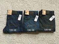 NWT Timberland MEN'S Classic Fit Straight Leg Jeans Denim Pant TJ003 3 Colors