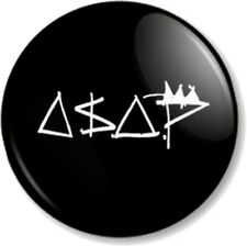 "ASAP (A$AP) MOB 25mm 1"" Pin Button Badge Ferg Rocky Rappers Hip Hop"