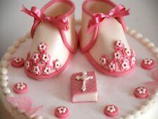 Edible White Baby Girl Shoes Set CHRISTENING / Handmade Sugarpeste