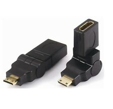 360 Degrees Rotating HDMI Female to Mini HDMI Male Adapter Converter Connector