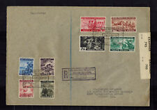 1943 Poland Free Government in Exile Com Set # 3K9-3K16 to USA Cover
