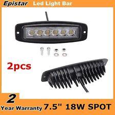 "2X 7.5"" 18W Flush Mount Spot LED Work Light Bumper 4WD SUV Jeep OffRoad Fog Lamp"