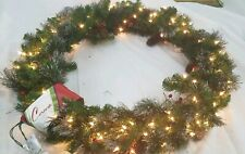 New Beautiful Large lighted Christmas Holiday Wreath 30 x 30