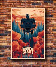 New Classic Comic Movie Film Fight The IRON GIANT Poster 14x21 24x36 Art X-581