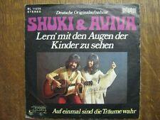 SHUKI & AVIVA 45 TOURS GERMANY LERN MIT DEN AUGEN DER