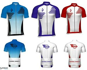 Mens Cycling Shirt Half Sleeves Summer Riding Outdoor Team Bicycle Jersey Deckra
