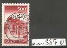 Saarland Mi-Nr.: 337 Höchstwert ex Freimarkensatz 1952 sauber gestempelt