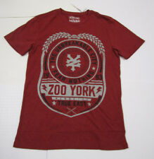 Nwt Mens Zoo York Unbreakable Fear Nothing Cordovan Red Logo Tshirt Medium