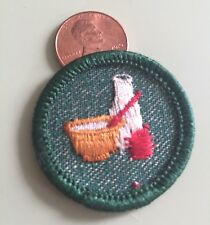 Vintage GIRL SCOUT COOKING PATCH ? - Milk , Bowl & Apple - FREE SHIPPING!