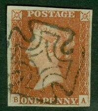 1d red brown plate 27 lettered B.A. A superb used example cancelled with a...