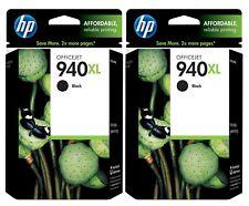 GENUINE HP 940XL Black Ink Cartridge 2-Pack for Officejet 8000 8500