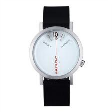 "Projects Watches ""Past, Present & Future"" Steel Quartz Silicon Watch Men's White"