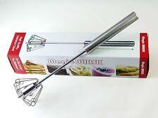 "12"" Mini Sports Manual Self Turning Stainless Steel Push Magic Whisk 4 sets"