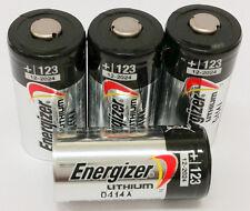 [USA] 4 Energizer 3V CR123A Batteries for Camera, Flashlight etc Expiration 2028