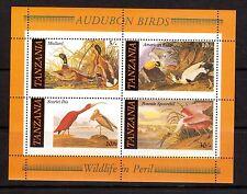 TANZANIA 309a Audobon Birds M/S MUH
