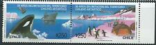 CHILE 1990 Whales Antartic Penguin MNH pair